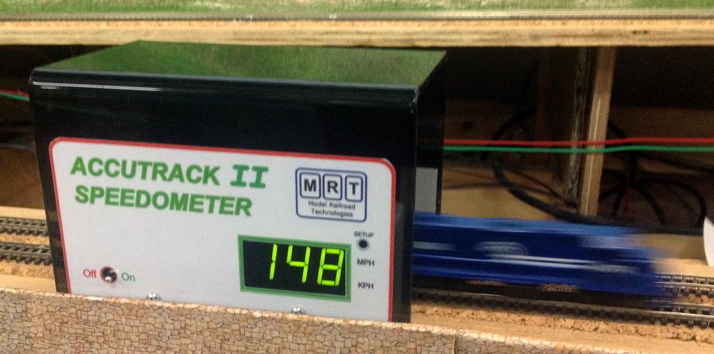 Accutrack II speedometer in action